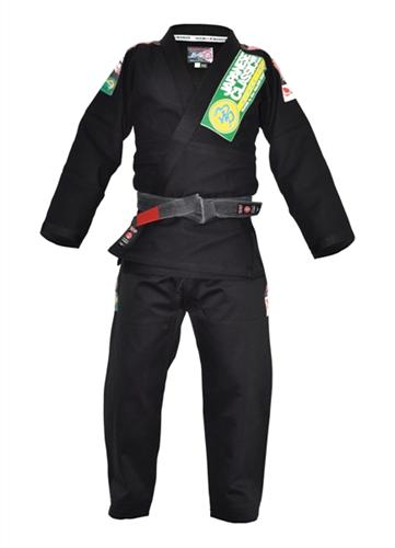 Isami Isami Sachiko Double Weave Black BJJ Gi With Patches